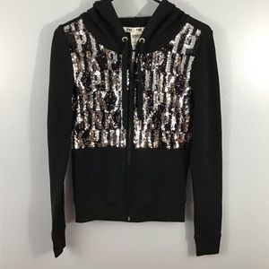 PINK Sequin Black and Silver Jacket